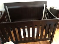 Baby's brown wooden crib. In good condition! 332 mi