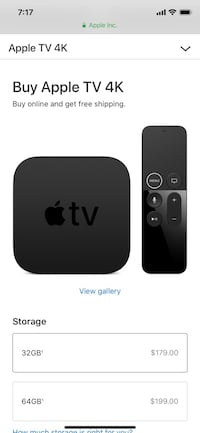 black Apple TV box with remote Washington, 20007