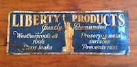 Rare antique Liberty products Advertising  tin sign New York Ottawa, K0A 3H0