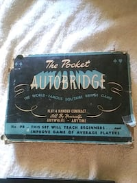 1946 Pocket Autobridge solitare game