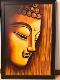 brown wooden framed painting of woman Simei, 528719