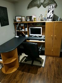 Multifunctional desk with built in file cabinet  Pickering, L1V 1S6