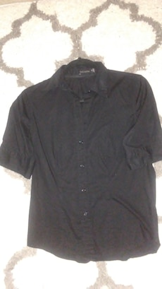 Women's black button-up shirt by The Limited