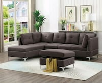 Brand New Astra Brown Sectional with Ottoman for Sale in Baltimore! Baltimore