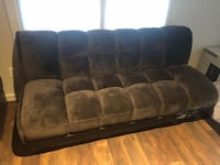 brown suede 3-seat sofa Chantilly, 20152