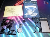 Drums Set: Metal Earth 3D Laser Cut Instrument Miniature Model Kit 2 sheets