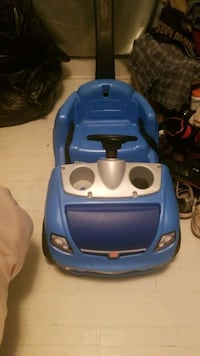 Blue toddler car