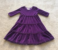 Hannah Anderson toddler purple velvet dress 4t Alexandria, 22304