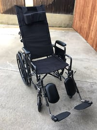 black and gray folding wheelchair Fountain Valley, 92708