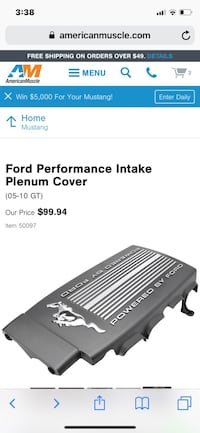 Ford Racing Engine Intake Plenum Cover for Mustang