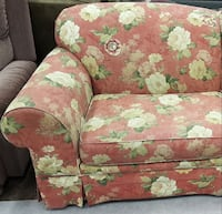 red and beige floral fabric sofa 桑塔金, 84655