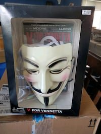 V for vendetta mask and book  Barrie, L4M 6Z9