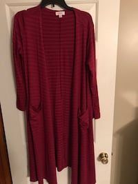 LuLaRoe Sarah (long cardigan) medium, cranberry Shippensburg, 17240