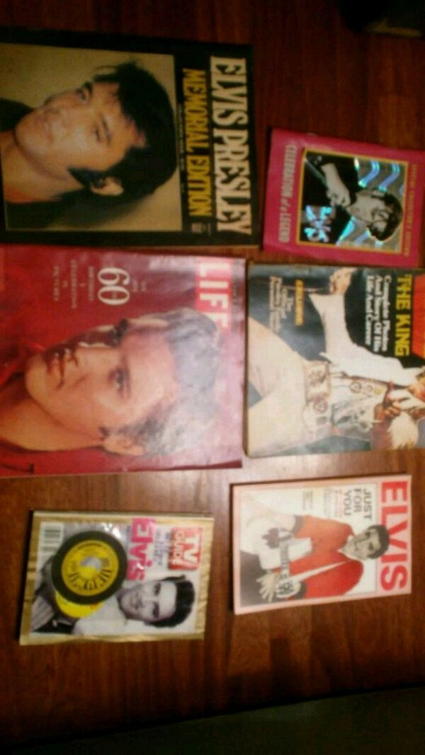 Elvis limited edition magazines from death year