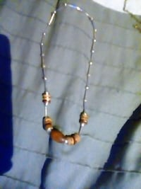 gold-colored and white beaded necklace Rossville, 30741