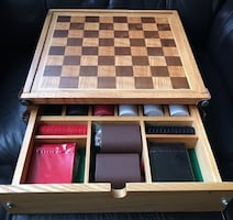 3 in 1 poker/checkers/backgammon game set