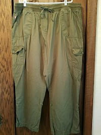 Woman Within 26W olive green cargo pants Sauk Rapids