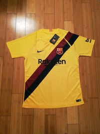 yellow and black Nike soccer jersey Baltimore, 21214