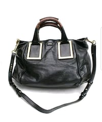 Authentic Chloe Shoulder Bag ETHEL black leather  32 km
