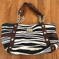 Michael Kors Beige and Brown Small Zebra Tote. Haledon, 07508