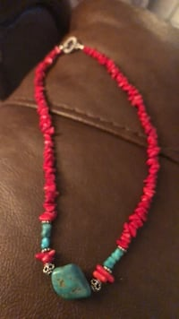 Coral with turquoise necklace  Austin, 78757