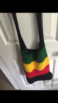 black green yellow and red knitted cross body bag Hialeah, 33015