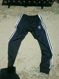 black and white Adidas track pants Duluth