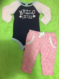 6-12 m onesie and pants Coquitlam, V3J 2W4