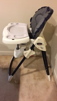 White and black high chair Brookeville, 20833