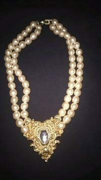 Beautiful Antique Gold Brooch Pearl Necklace Clinton, 20735