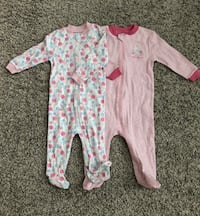 baby's pink and white footie pajama Longueuil, J4L