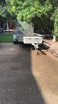 9ft gray utility trailer with saddle box