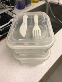 Two glass lunch box