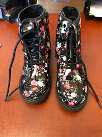 Patent Leather Floral Combat Boots Randallstown, 21133