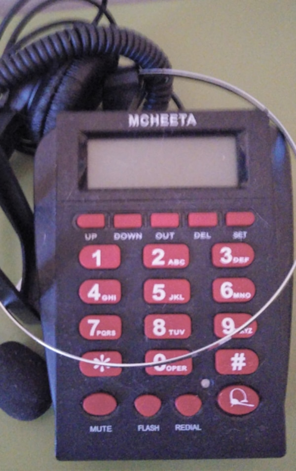 da4a965a695 Used Corded Phone Headset, MCHEETA Call Center Telephone Headset with  Dialpad, Noise Cancelling Phone Headsets for Office/House Phones for sale  in MACON - ...