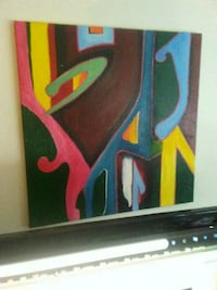 black, red, and blue abstract painting San Francisco, 94109