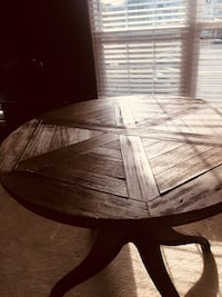 round brown wooden pedestal table 41 km