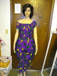 Real African wax jumpsuit 100 percent cotton