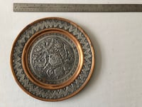 Authentic Copper and silver Decorative plate Fairfax