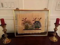 Egyptian papyrus painting, hand painted with frame Fairfax, 22033