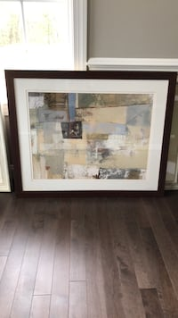 White and brown abstract painting Randallstown, 21133