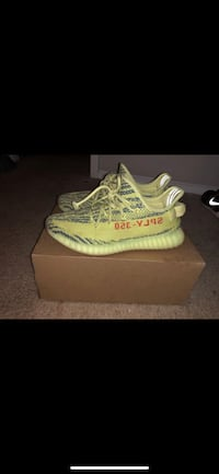 pair of white Adidas Yeezy Boost 350 v2 Sugar Hill, 30518