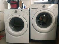 white front-load clothes washer and dryer Sun City