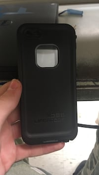 black Lifeproof smartphone case