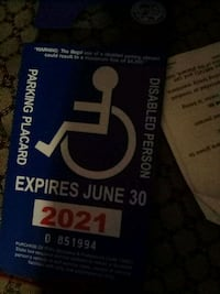 Handicapped Card Bakersfield, 93304