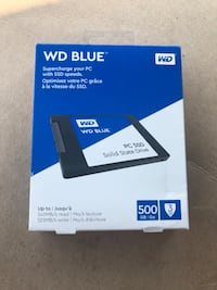 New in Box Western Digital 500 gb Solod State Drive Wartrace, 37183