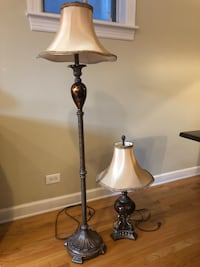 Matching antique table and floor lamps Chicago, 60614