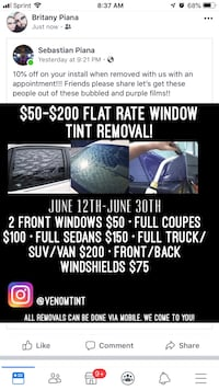 Tint/tint removals Buford