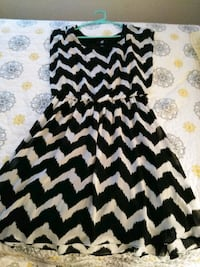 black and white chevron sleeveless dress Clemmons, 27012
