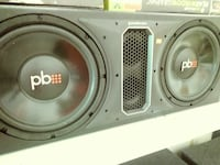 Brand New Powerbass Dual 12 subwoofers in vinyl..